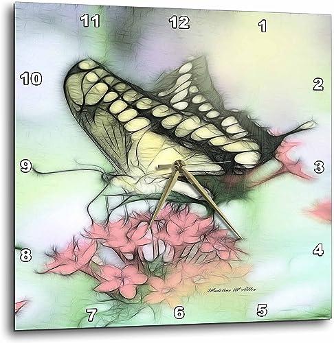 3dRose LLC Butterfly 10 by 10-Inch Wall Clock