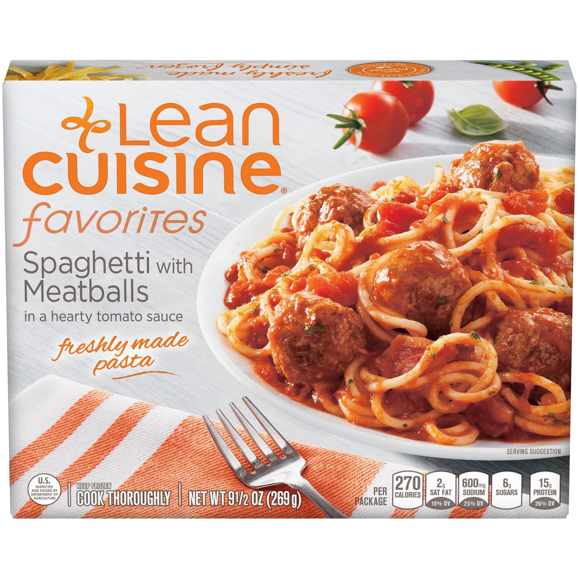 Lean Cuisine Spaghetti and Meatballs 9.5 oz, Pack of 12