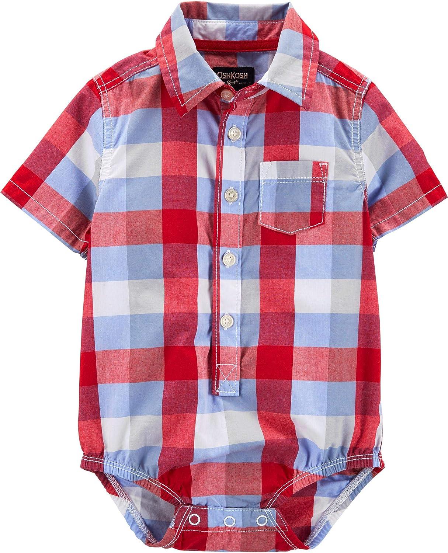 OshKosh B'Gosh baby-boys Short-sleeve Woven Bodysuit