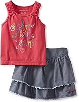 Calvin Klein Little Girls' Top With Denim Skort