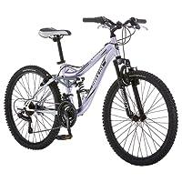 Mongoose Maxim Suspensión Total de la muchacha bicicleta (24-Inch)