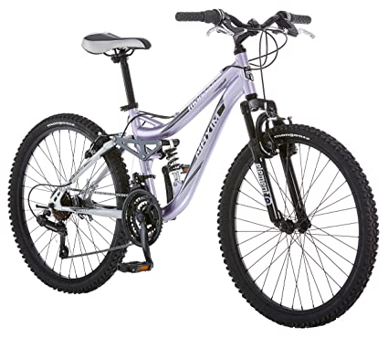 91adc8c2fac Amazon.com   Mongoose R3577 Girl s Maxim Full Suspension Bicycle (24-Inch)    Childrens Bicycles   Sports   Outdoors
