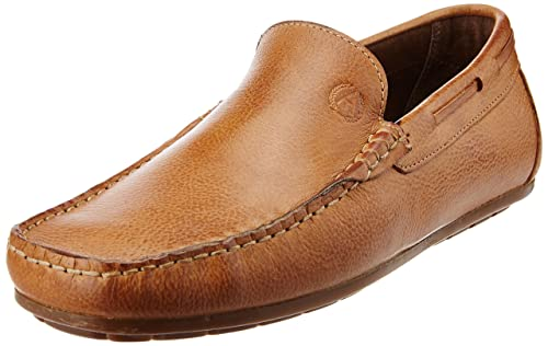 7aee5b61c8131 Alberto Torresi Men s Tan Leather Loafers and Mocassins - 11 UK  Buy ...