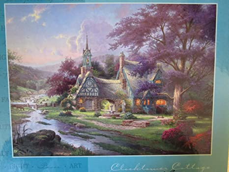 amazon com clocktower cottage thomas kinkade painter of light rh amazon com  thomas kinkade clocktower cottage puzzle