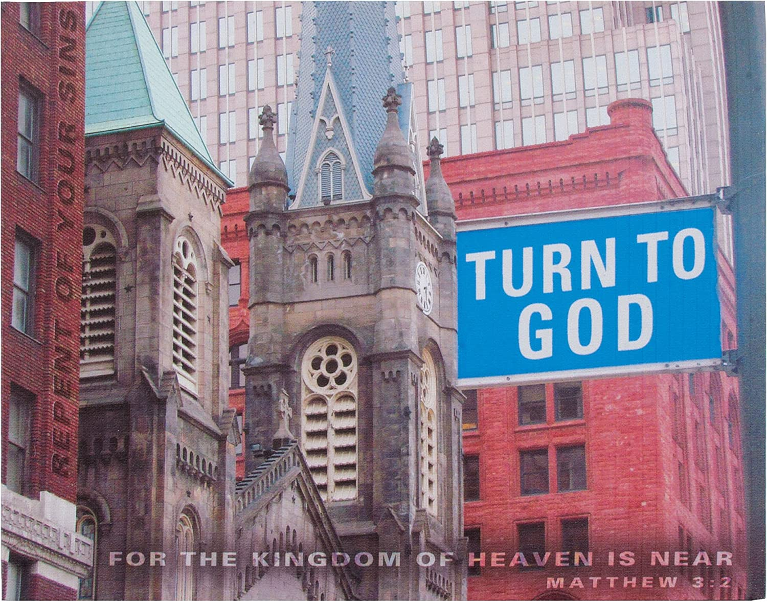 Ohio Wholesale Turn to God Canvas Wall Art, from our Inspirational Collection