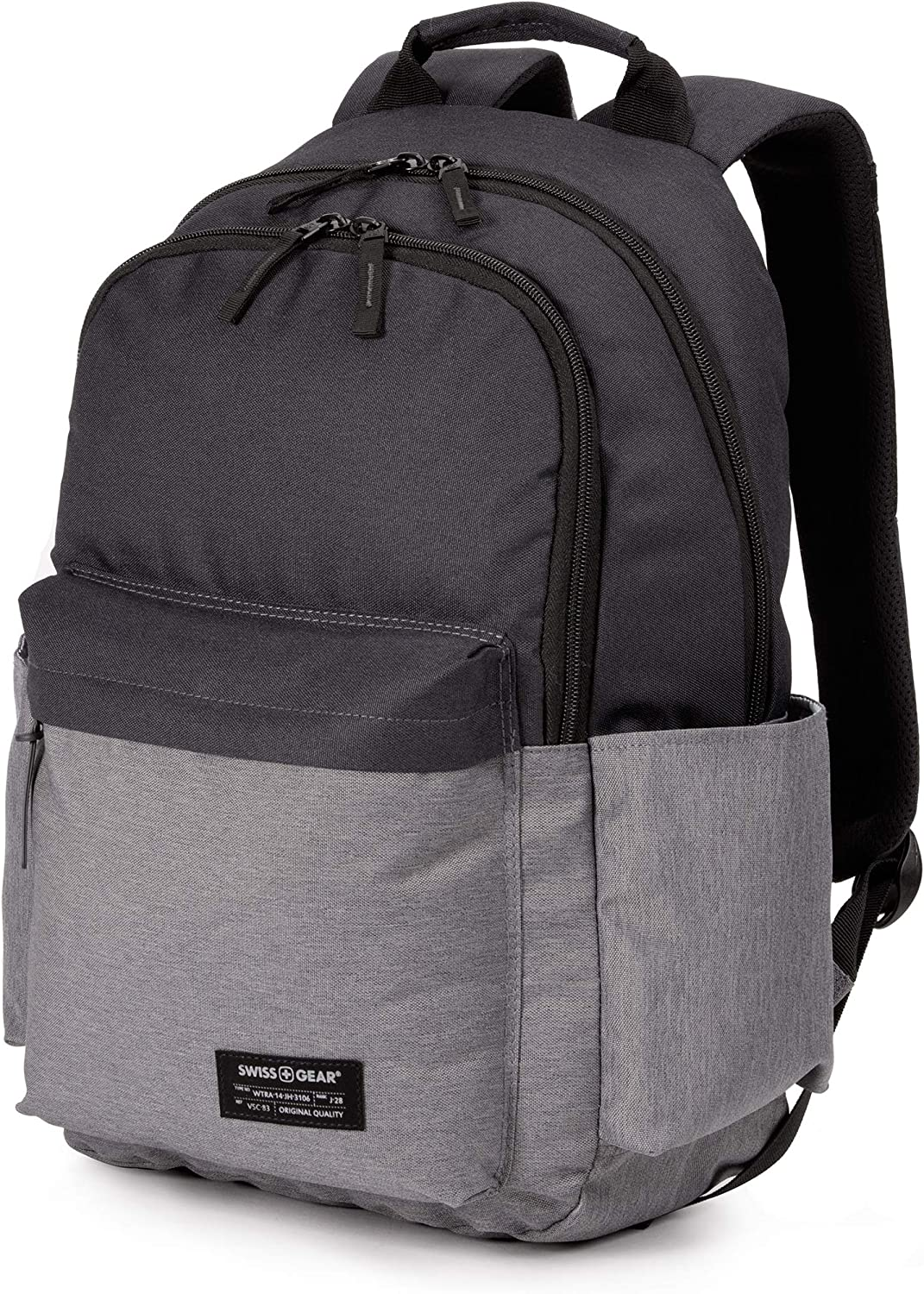 SWISSGEAR 2789 Laptop Backpack for Men and Women, Ideal for Commuting, Work, Travel, College, and School, Fits 13 Inch Laptop Notebook - Grey/Black