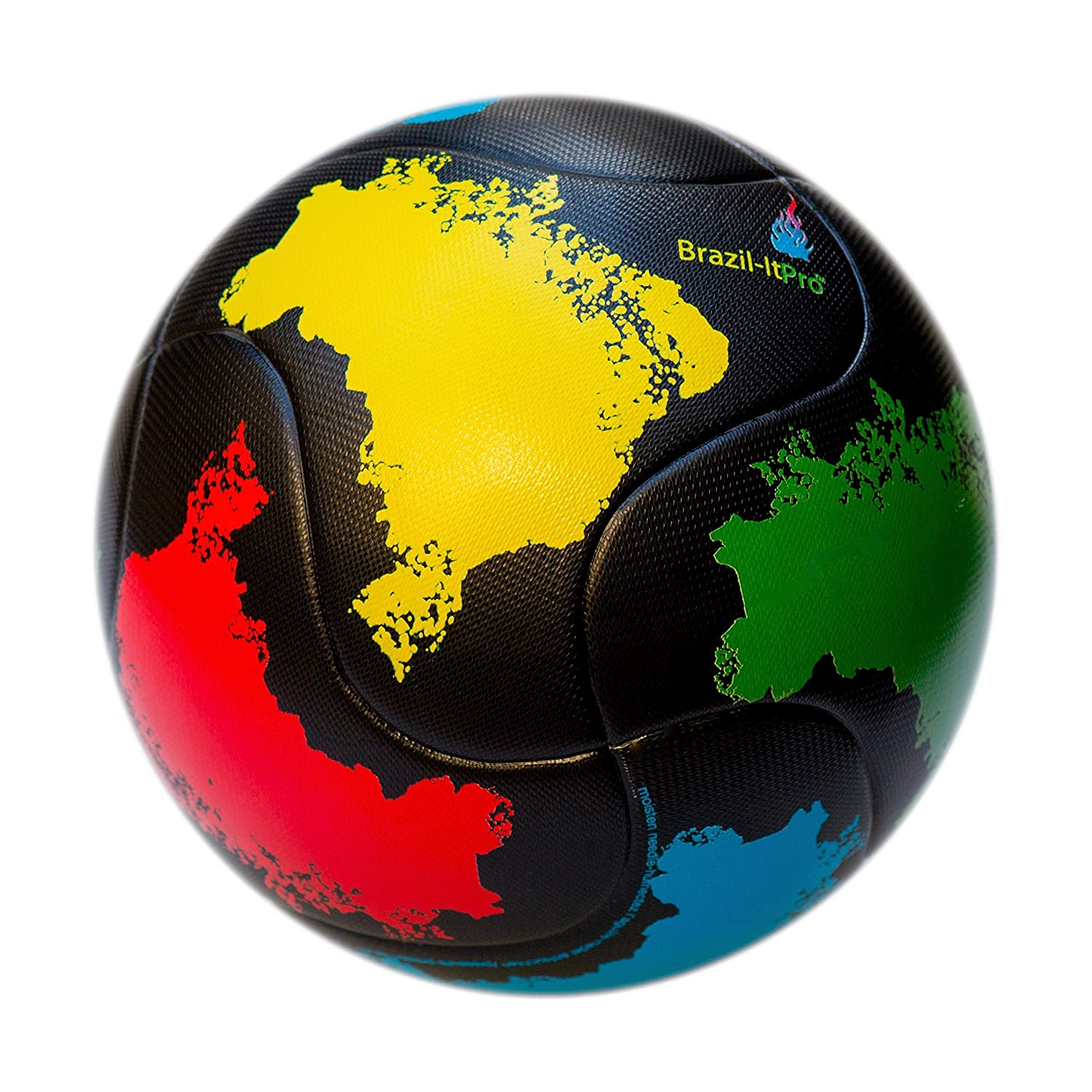 bend-itサッカー、knuckle-it Pro、サッカーボール、Official Match Ball with VPM and VRCテクノロジー B075DZRPDF 5|Textured PU Material (Black, Yellow, Red, Green, Blue) Textured PU Material (Black, Yellow, Red, Green, Blue) 5