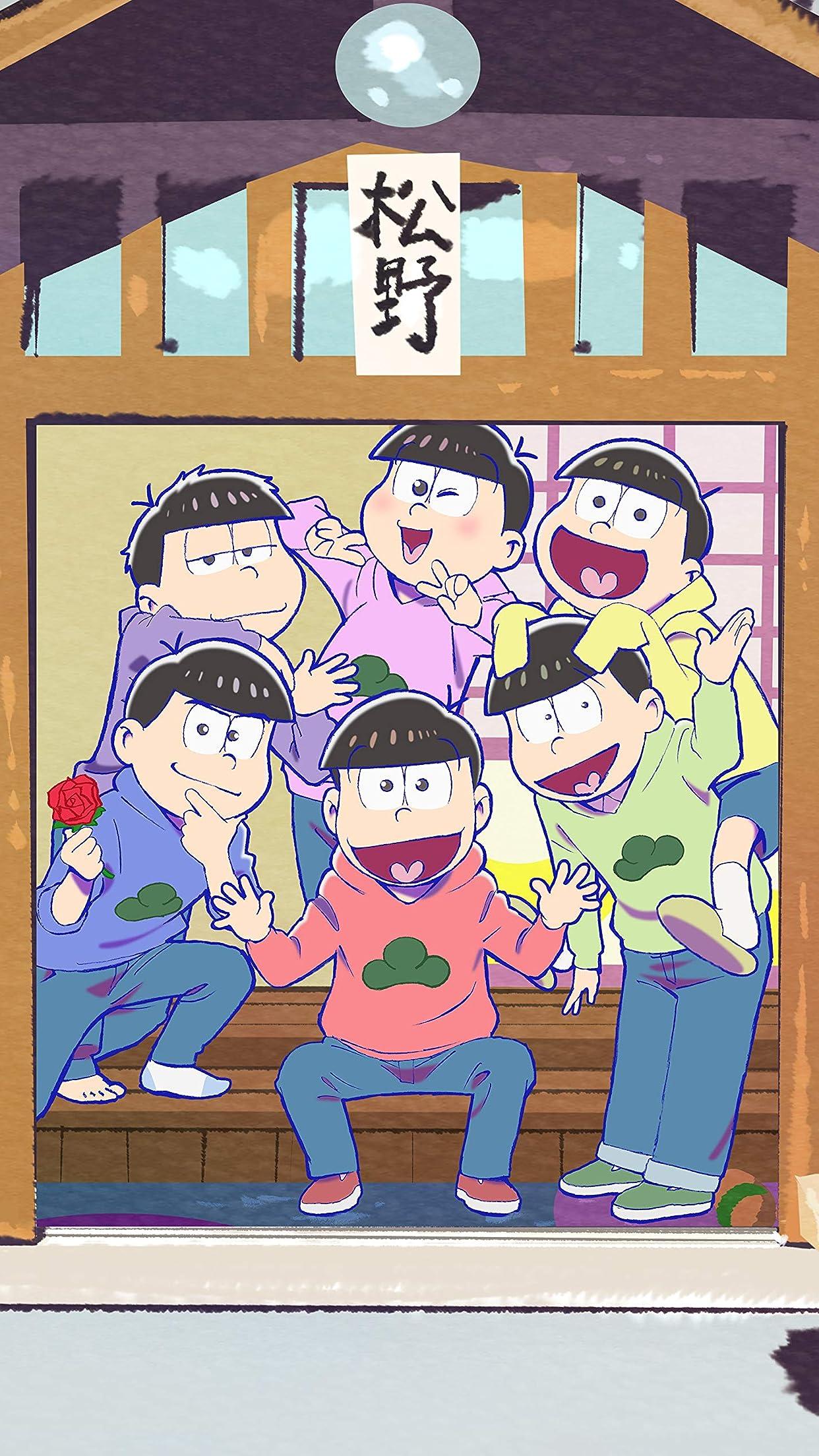 おそ松さん 松野家 iPhone8,7,6 Plus 壁紙(1242×2208)画像