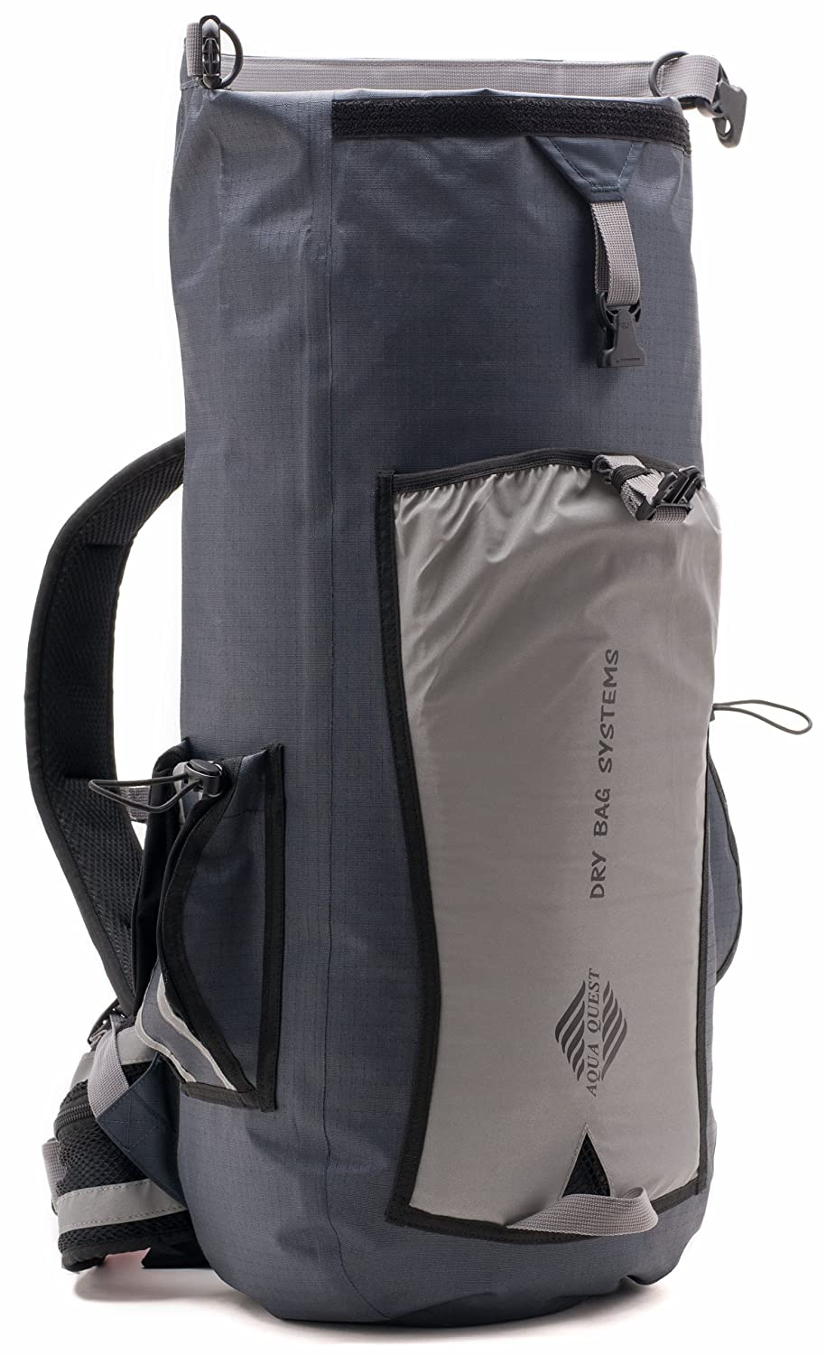 1b926d58d398 Aqua Quest SPORT 25 PRO Grey Waterproof Backpack with Roll Top to Protect  Laptop for Men