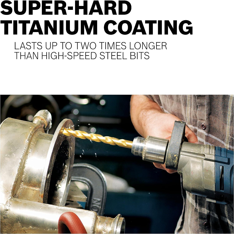 x 5-1//4 In Titanium-Coated Drill Bit Bosch TI2153 13//32 In