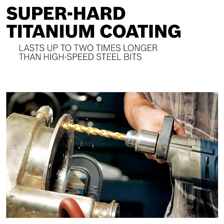 x 3-1//8 In Titanium-Coated Drill Bit Bosch TI2137 5//32 In