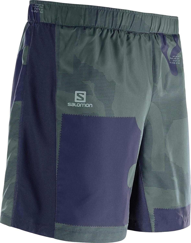 Salomon Herren 2-in-1 Lauf-Shorts Agile 2IN1 Short M Synthetik