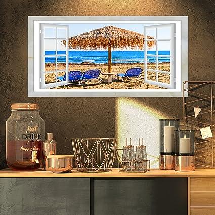 Diseño Arte Ventana Abierta a, diseño de caseta de playa con sillas XL de playa