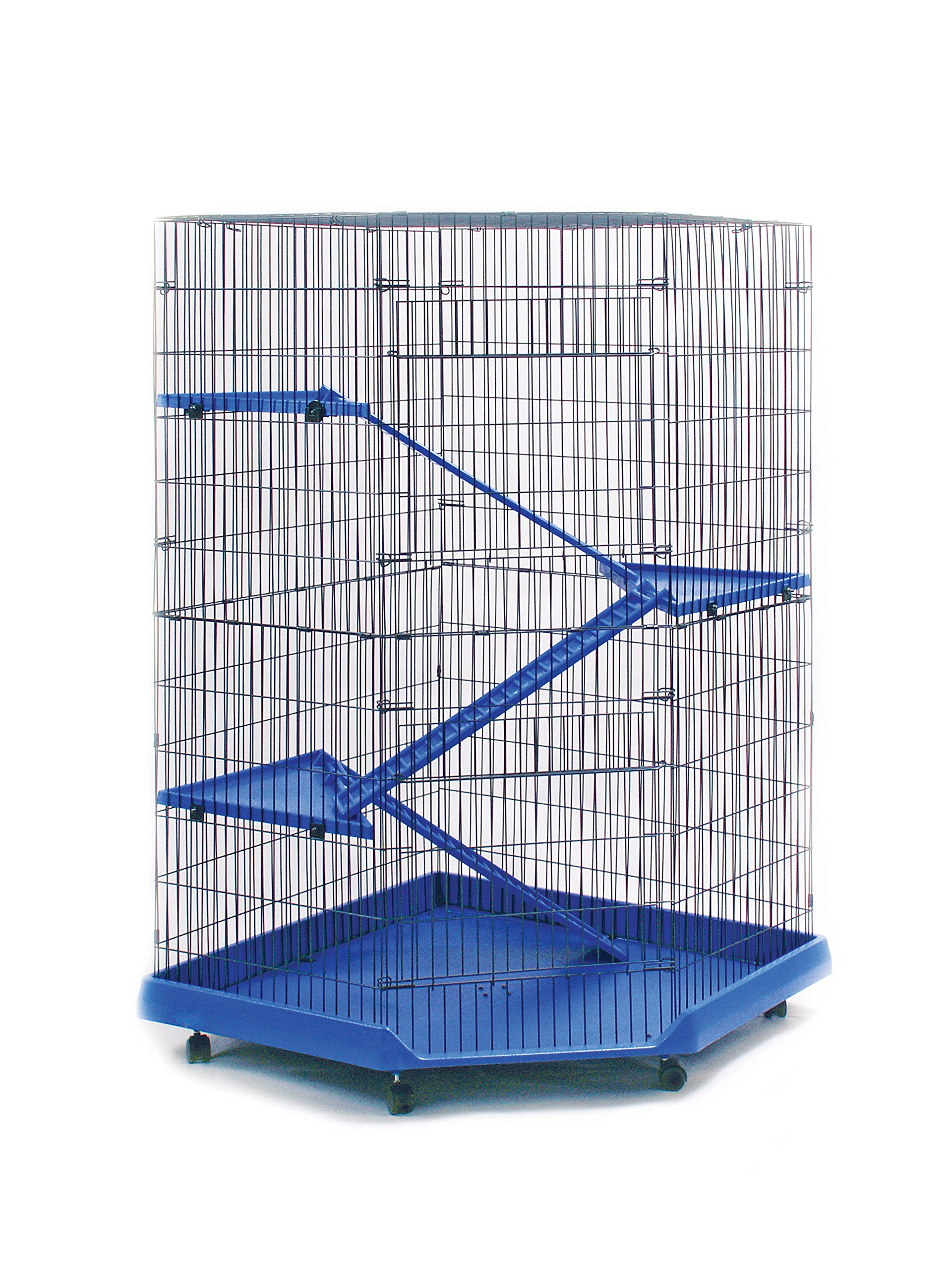 Prevue Pet Products 479 Ferret Corner Cage, Blue/Black