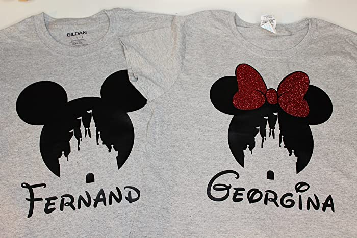 cc03adee Amazon.com: Disney Shirts for Family Matching/Matching Disney Shirts/Disney  Vacation Shirts/Minnie Ears/Mommy Daddy Trip Grey Minnie Mouse Mickey Mouse  ...