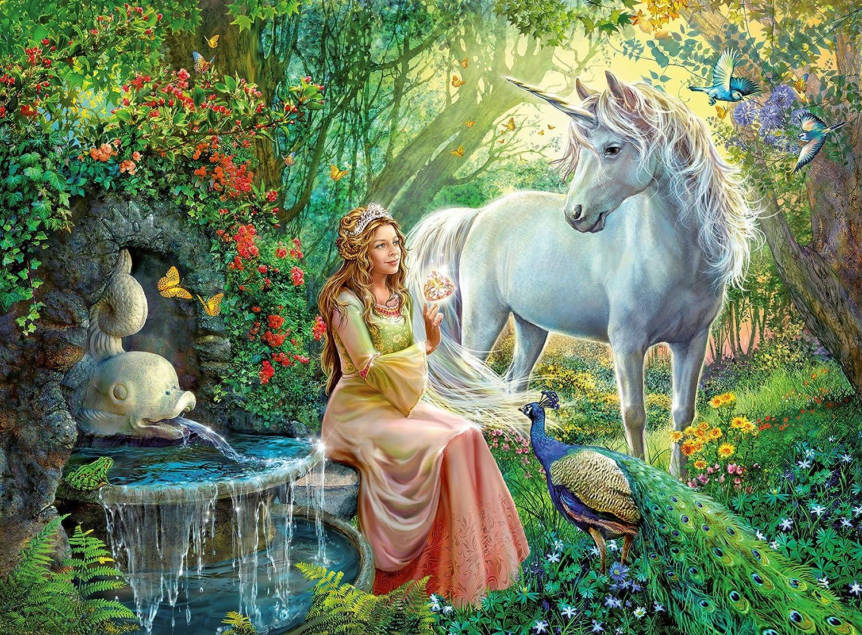 amazon com ravensburger princess and unicorn puzzle 100 piece