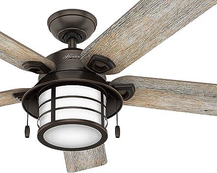 Hunter Fan 137,16 cm Ventilador de techo para exteriores con luz ...