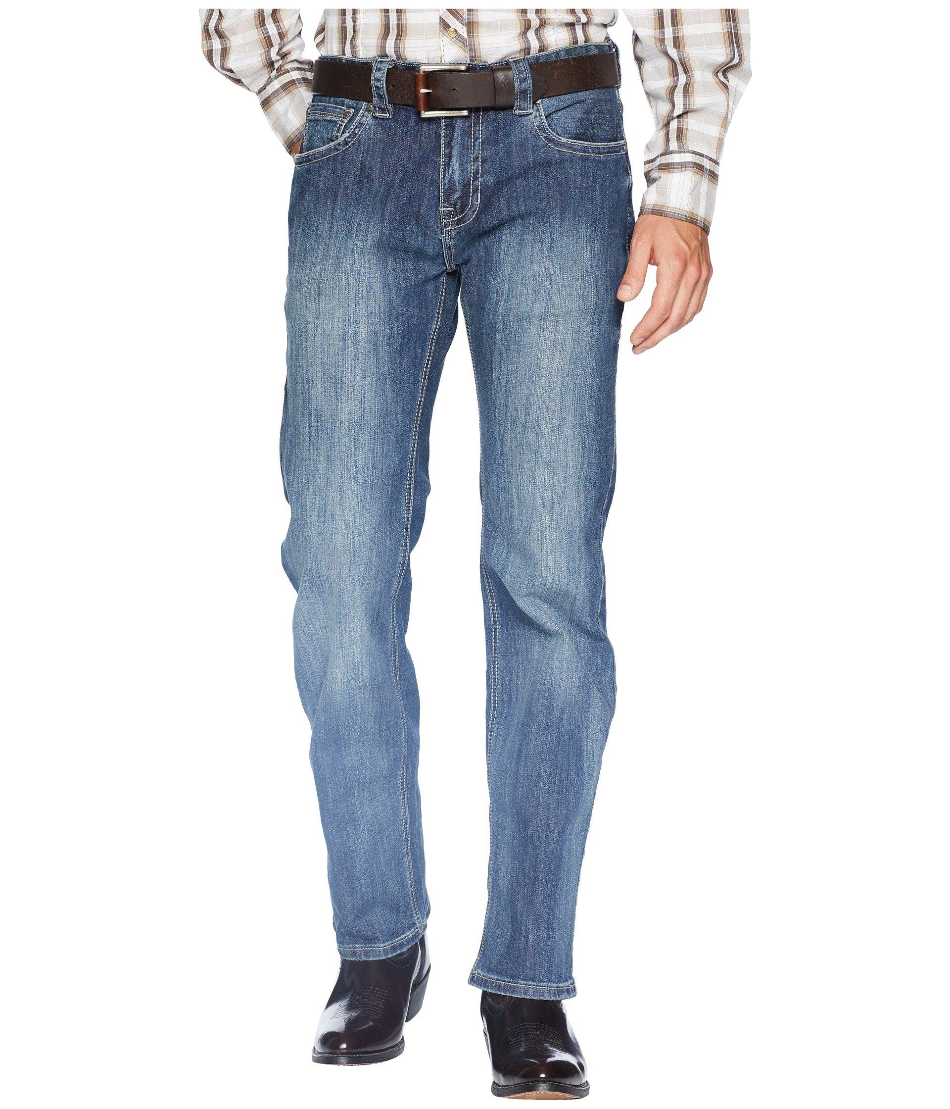 Rock and Roll Cowboy Men's Pistol Bootcut Denim with Stitches in Dark Wash M1P6610 Dark Wash 38 32
