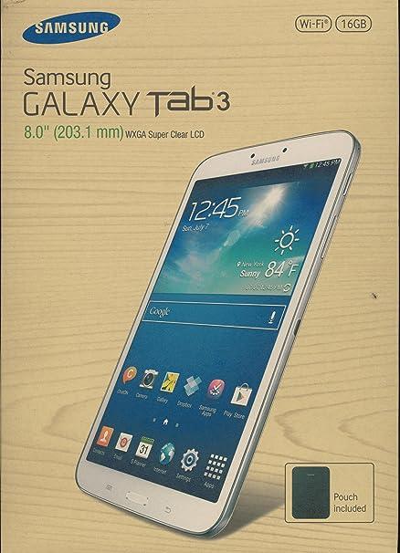 מפואר Amazon.com : Samsung Galaxy Tab 3, 8-inch, White 16GB Wi-fi (Pouch HK-08
