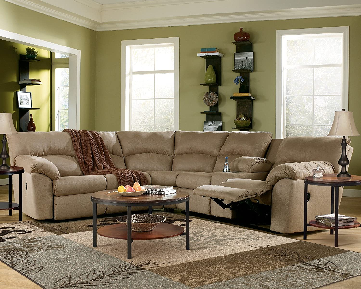 Amazoncom Ashley Amazon 617004849 Sectional Sofa with Left Arm