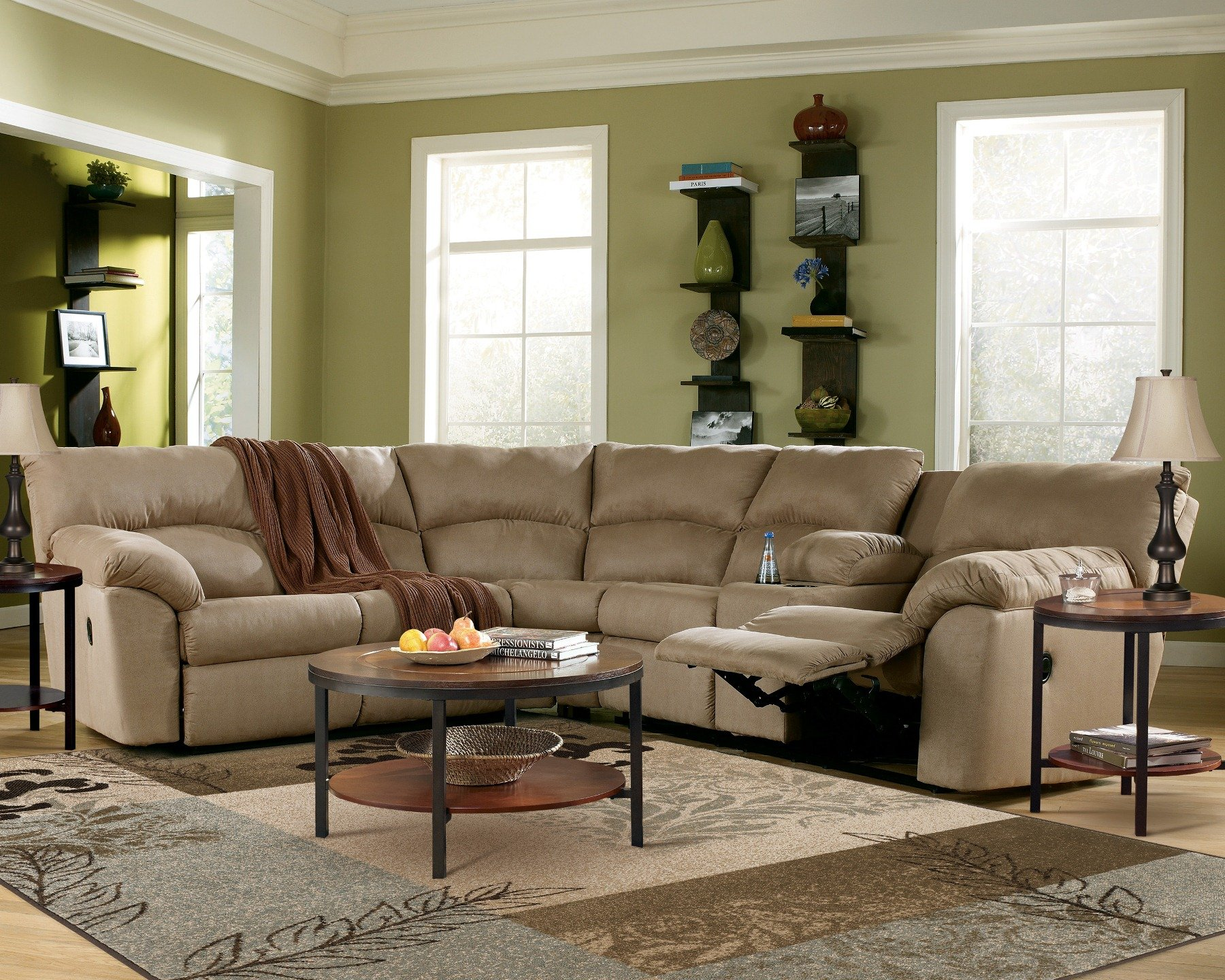 Charmant Amazon Mocha Reclining Sectional Sofa