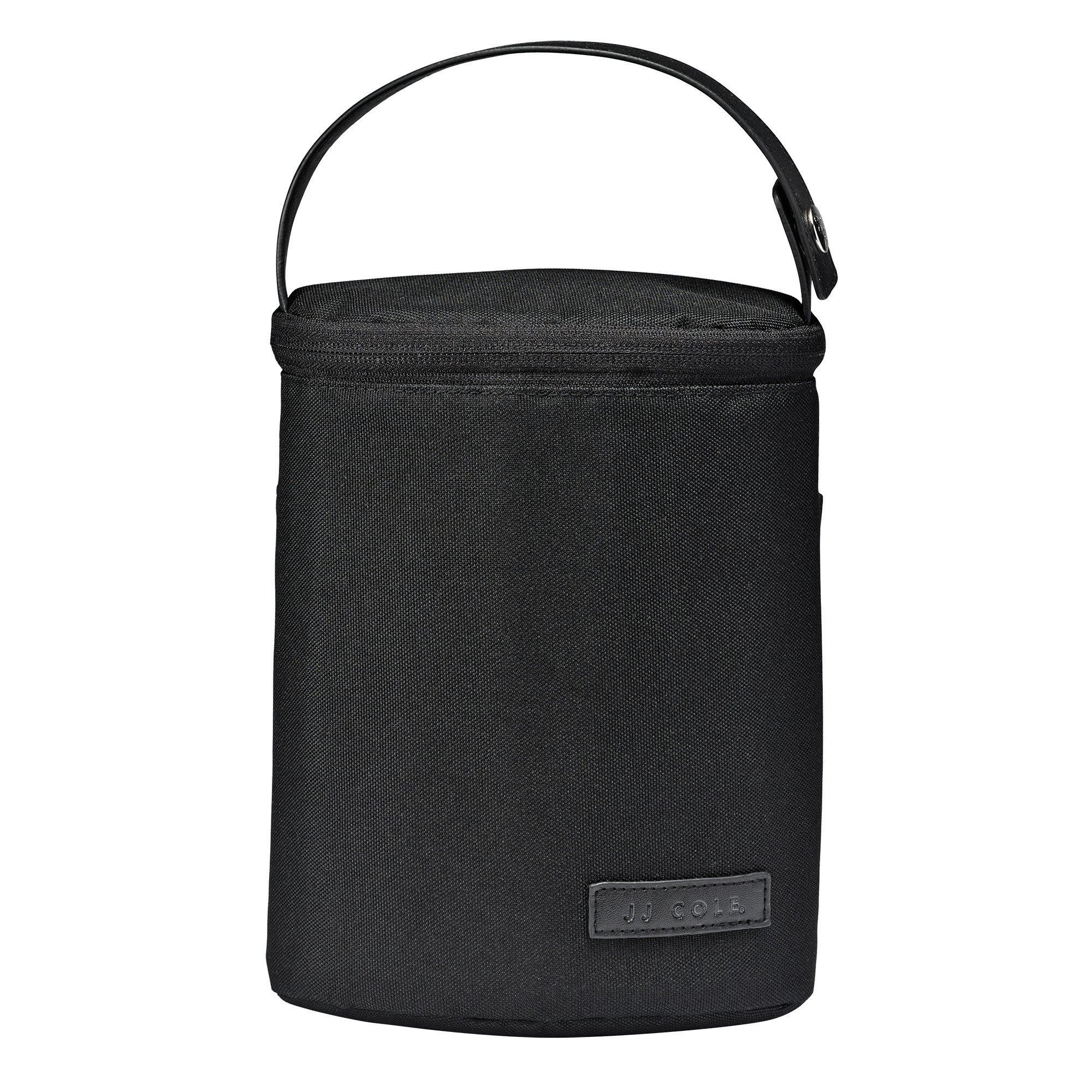 JJ Cole - Bottle Cooler, Insulated Interior for 2 Large Bottles or Sippy Cups, Included Freezer Pack, Exterior Pocket, Easy Attach Handle, Blackout by JJ Cole