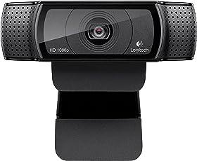 Logitech HD Pro Webcam C920, Resolución FullHD 1080p, color Negro