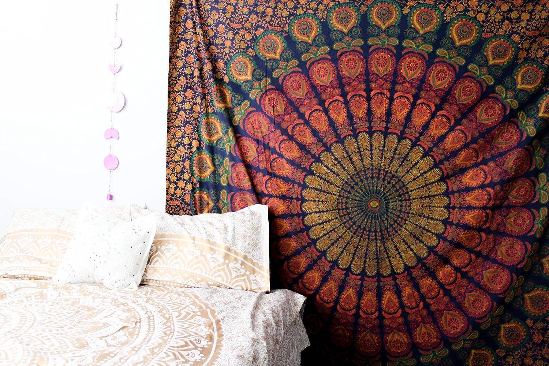 Amazoncom Marubhumi Indian Mandala Tapestry Indian Hippie