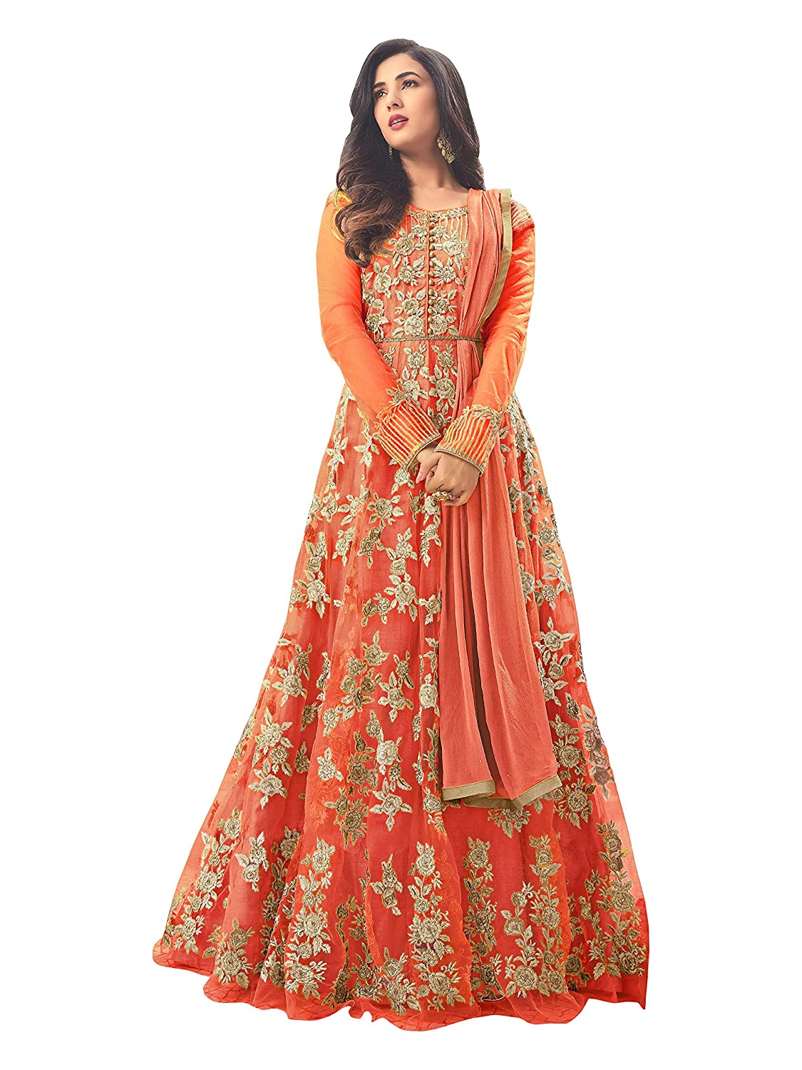 Misha Fashion Women\'s Net Anarkali Gown: Amazon.in: Clothing ...