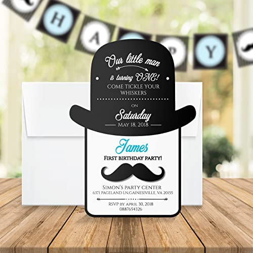 First birthday invitation personalized little man first birthday first birthday invitation personalized little man first birthday invitation card custom boy 1st birthday party happy filmwisefo