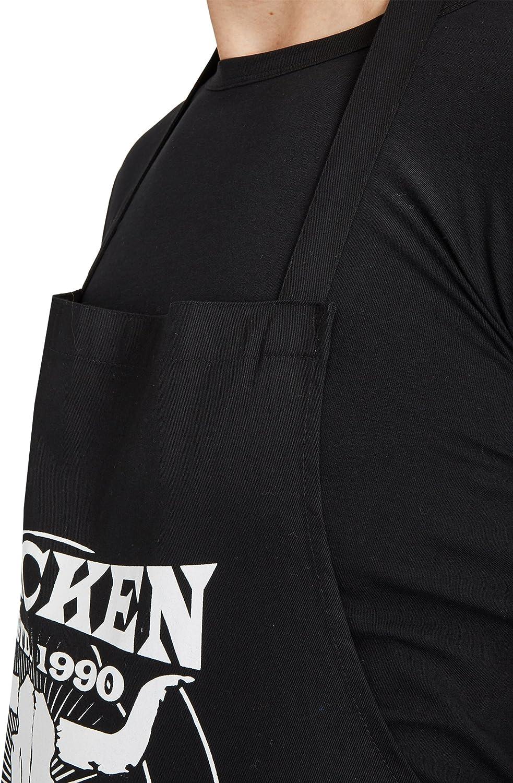 gro/ßer Frontprint mit Wacken Schriftzug und Bullhead Motiv Hotter 100/% Baumwolle Louder W:O:A Wacken Open Air Grillsch/ürze Faster