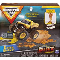 Monster Jam, Earth Shaker Monster Dirt Starter Set, Featuring 8oz of Monster Dirt & Official 1: 64 Scale Die-Cast Truck