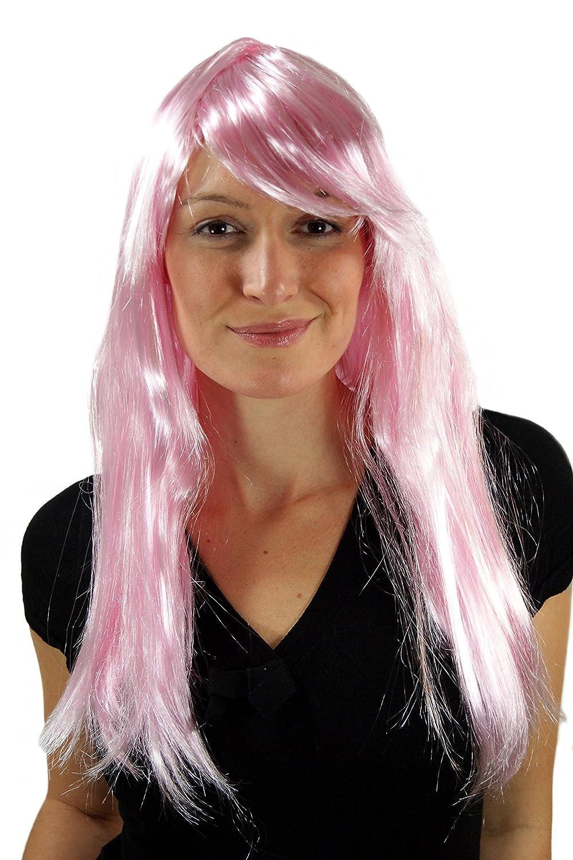 WIG ME UP - LM3040-PC28 - Peluca para carnaval, rosa, pink, hada, elfo, Cosplay, nueva: Amazon.es: Juguetes y juegos