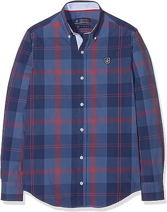 Valecuatro H Clásica Tartán 104, Camisa Para Hombre, Tartán/Rojo, XXXL: Amazon.es: Ropa y accesorios