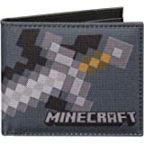 JINX Minecraft Iron Sword Nylon Bi-Fold Wallet, Multi-Colored, One Size