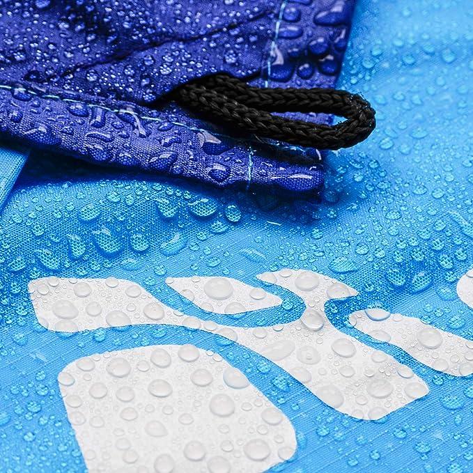 Ultraligero Compacta Port/átil con 4 Estaca Fijo Manta de Camping Almohadilla para Actividades al Aire Libre meteor Alfombras Playa Impermeable Manta Picnic 140x180 cm, Azul