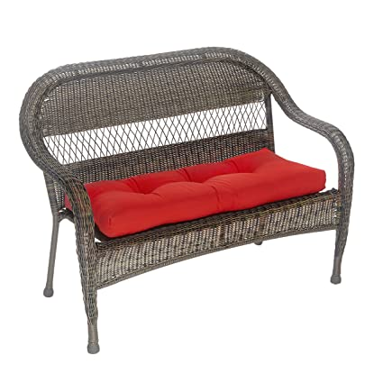 Outdoor Patio Bench Cushion Solid And Patterns 43 X 19 X 3 Solid Red