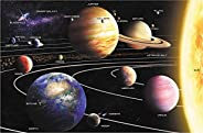 A2PLAY USA Solar System 1000 Piece Jigsaw Puzzle Set, Adult Space Puzzle & Fun Fact Poster, Premium Recyclable Materials, 27