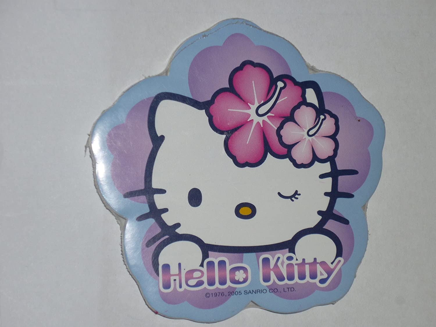 Hello Kitty Flower Shaped Notepad with Magnet on Back Color Varies Orange or Blue