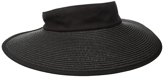 San Diego Hat Company Women s Elastic Closure Paper Braid Visor Hat ... 1766735b33f5