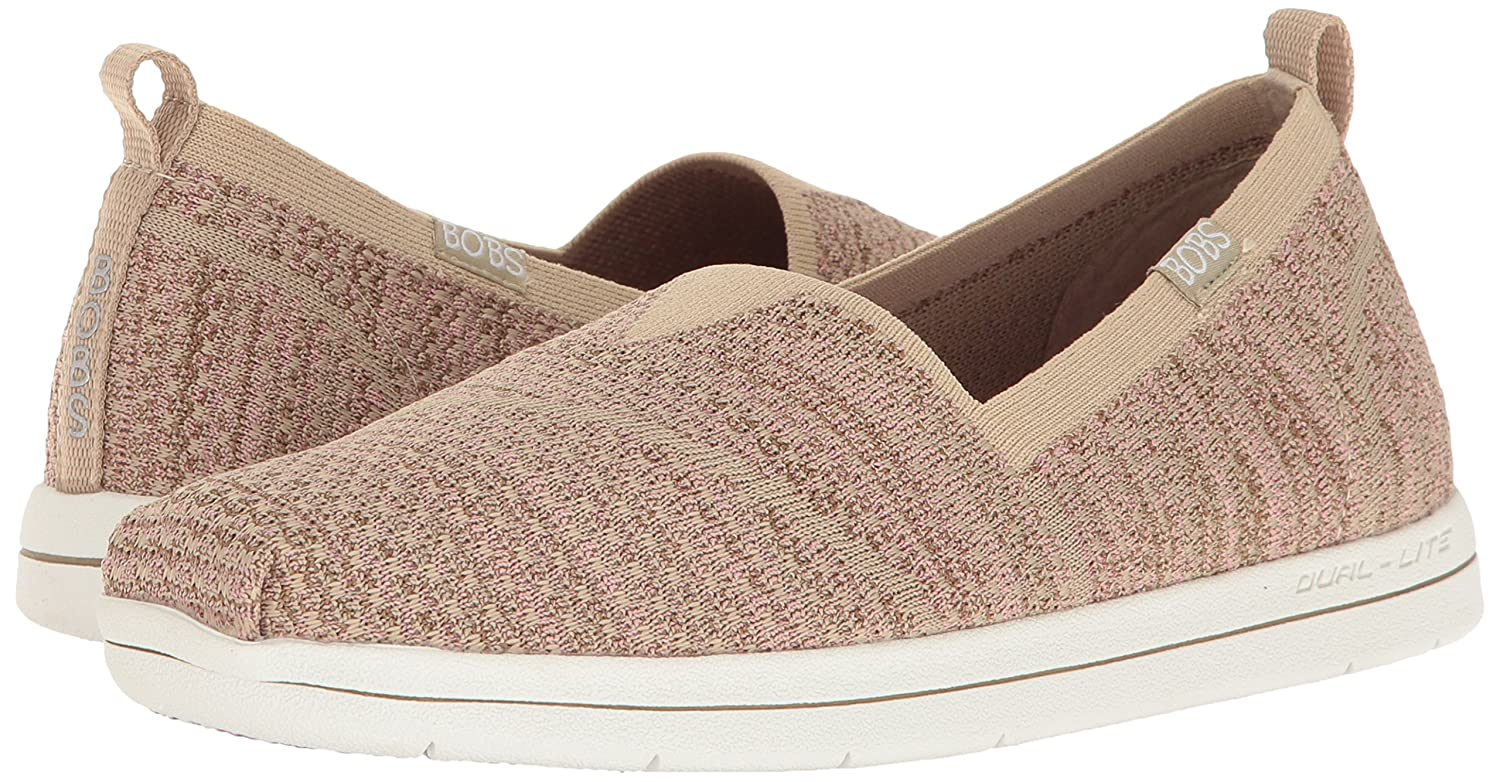 Skechers BOBS from Flat Women's Super Plush-Long Stretch Flat from B01J8J0DSC 9.5 M US|Taupe Pink e9403a