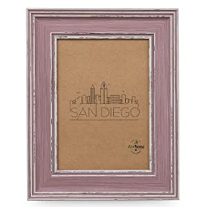 4x6 Picture Frame Distressed Rose - Wall Mount or Desktop Display, Frames by EcoHome