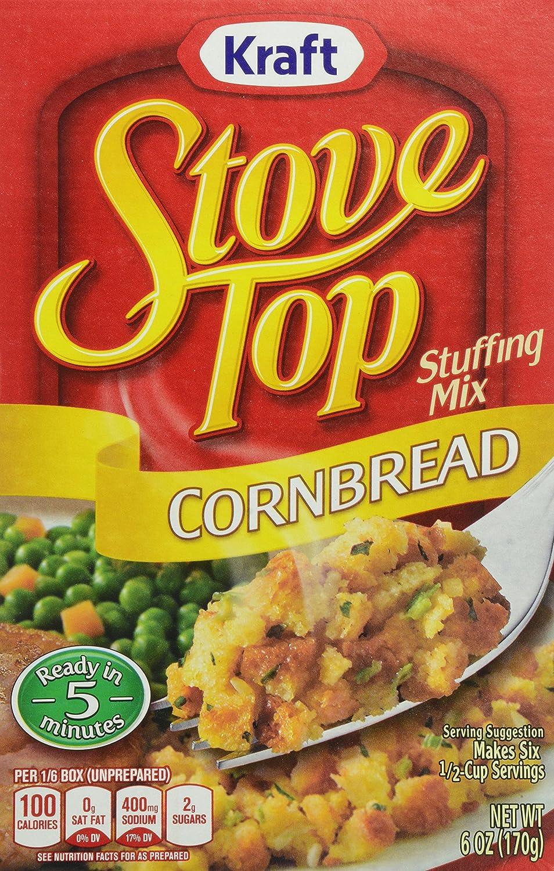 Estufa parte superior relleno mezclar, cornbread, 6 Onza Box ...