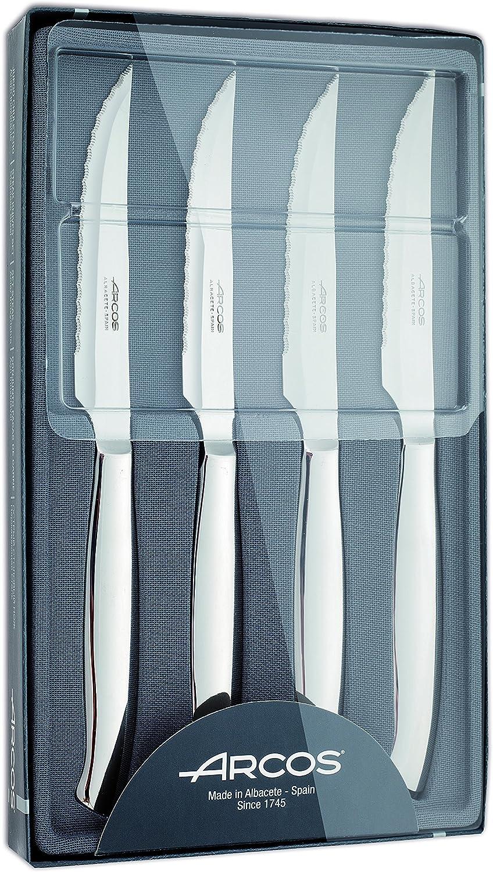 Arcos 378400 - Juego de cuchillos chuleteros, 110 mm (4pzs ...