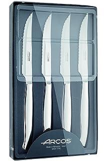 Arcos 378400 - Juego de cuchillos chuleteros, 110 mm (4pzs)