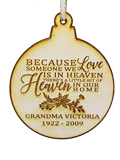 personalized memorial wood christmas ornament christmas in heaven memorial gifts sympathy gifts