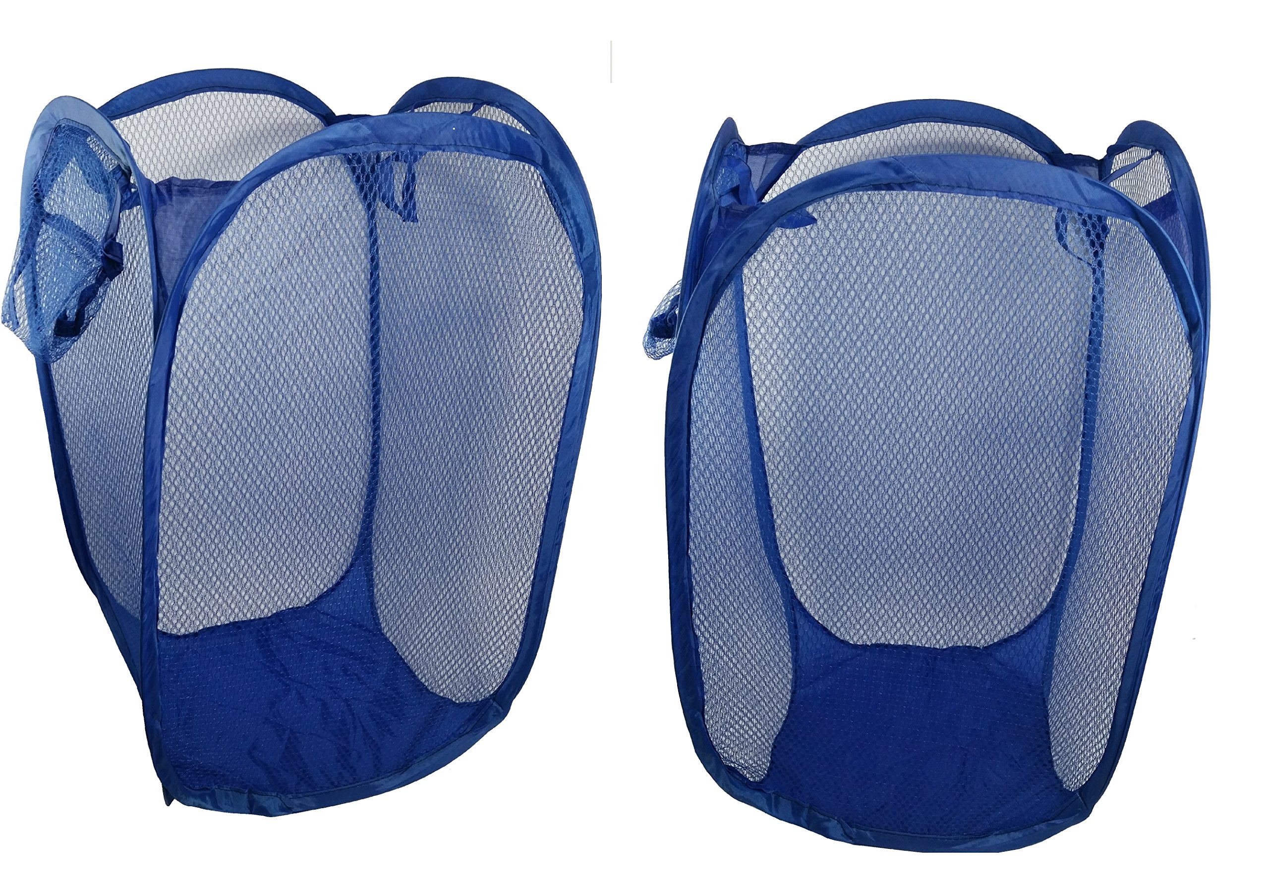 Pop Up Hamper Storage Extra Large for Toys, Laundry, Diapers Hamper Bag with Carry Handles, Pack of 2 Blue