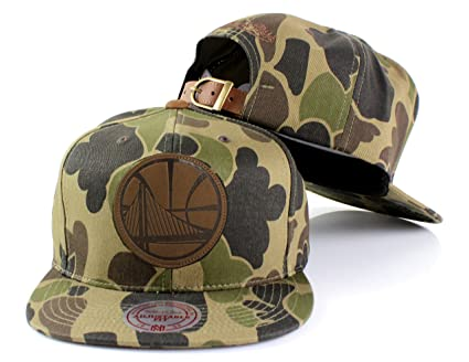 separation shoes 37628 b4bcf Mitchell   Ness NBA Lux Camo Adjustable Strapback Hat (Golden State Warriors )