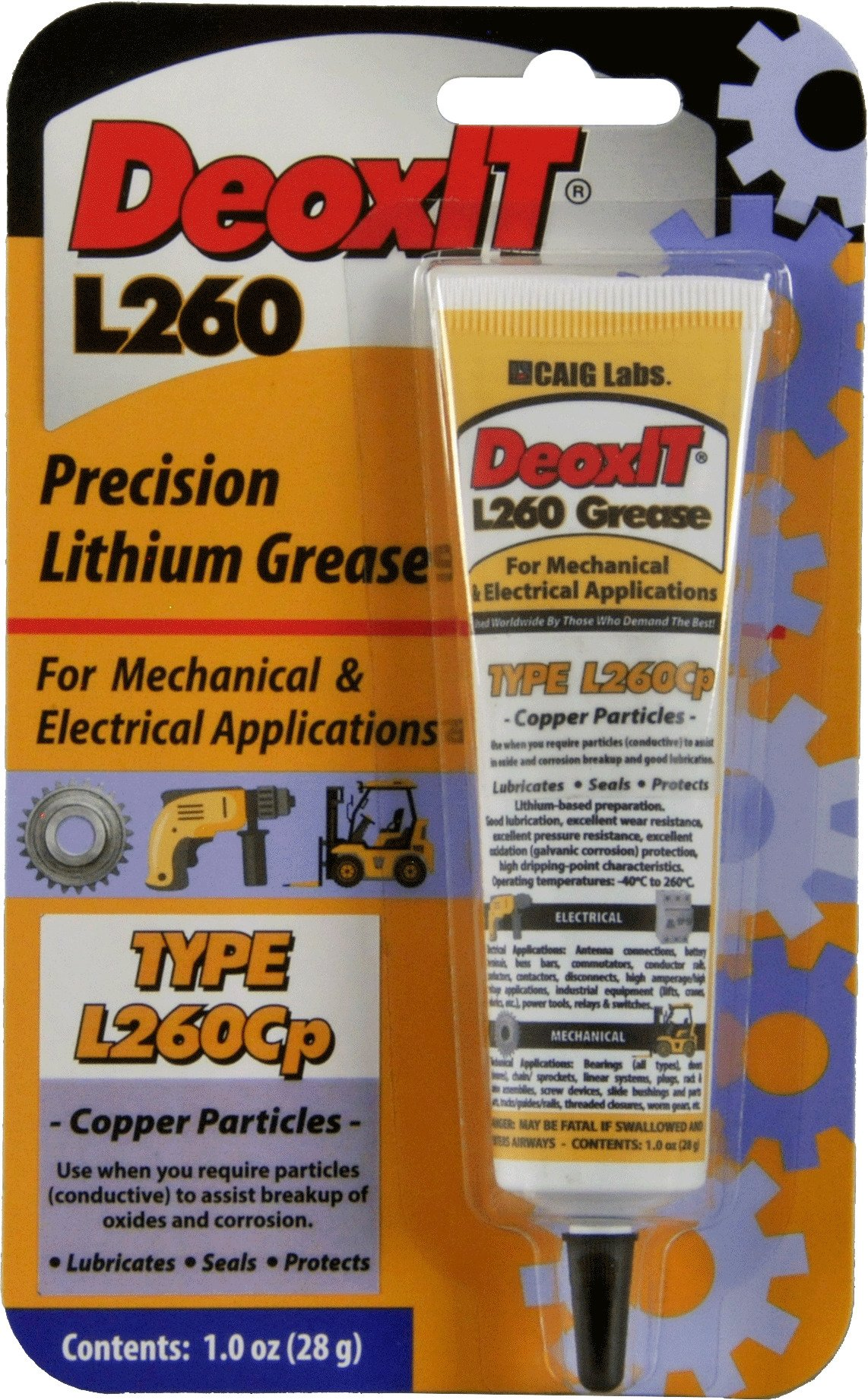 DeoxIT L260 Grease L260Cp, Tube copper particles 28 g - L260-C1 by CAIG Laboratories (Image #2)
