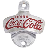 TableCraft Products Coca Cola Cast Metal Wall Mount Stationary Bottle Opener